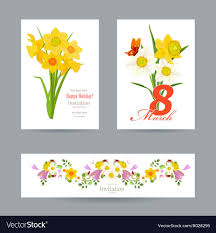 Spring Photo Cards Collection Of Greeting Cards With Spring Flowers