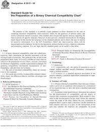 Chemical Compatibility Chart Pdf Astm E2012 06