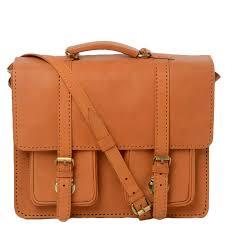 luggage vintage vegetable tanned leather laptop briefcase vin 820 tan vt