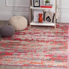 pink and gray area rug mistana nichole dark blue reviews wayfair 21