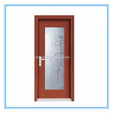 new design and hot pvc wooden interior glass doors