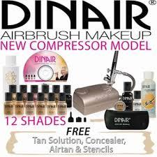 dinair studio beauty airbrush make up kit with fair light makeup set free spray tan in on alibaba