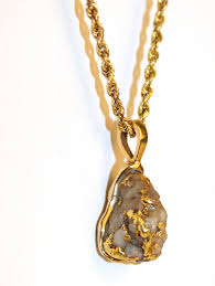 gold nugget quartz pendant