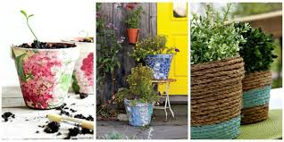 24 Seriously Pretty Diy Flower Pot Ideas How To Decorate Planters Ideas For  Flower Planters