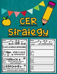 Cer Strategy Claim Evidence Reasoning Graphic Organizer With Anchor Chart