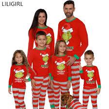 Designer Christmas Pajamas Cotton Family Matching Sleepwear Clothes Mother Father Kids