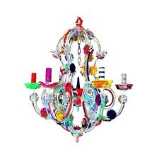 multi colored crystal chandelier coloured chandeliers color gypsy pendant light for popular residence