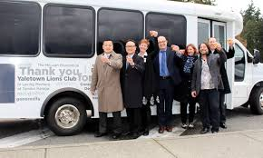 celebrating the arrival of the new yaletown house bus proudly sponsored by the yaletown lions club february 2016