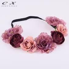 <b>CXADDITIONS</b> Peony <b>Rose</b> Bud Headband <b>Floral Flower</b> Crown ...