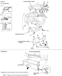 12 dashboard ponent removal 1992 95 models image