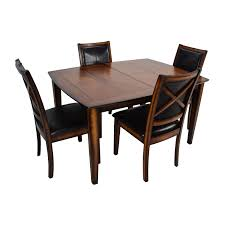 denver glass dining table. raymour and flanigan \u0026 denver 5-piece extendable dining set brown/black glass table s