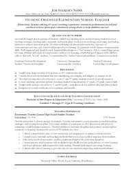 Student Teaching Resume Template Student Teaching Resume Samples