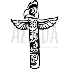Totem Pole Design Template Amazon Com Azeeda A5 Totem Pole Wall Stencil Template