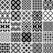 Simple Patterns Stunning Black And White Seamless Simple Classic Patterns Vector Image