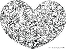 Printable Heart Coloring Pages Davidstyleinfo