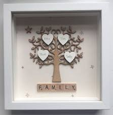 image is loading family tree box frames stars gift personalised wall  on personalised wall art family tree with family tree box frames stars gift personalised wall art birthdays ebay