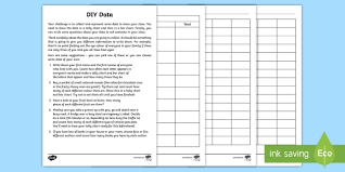 Statistics Worksheet Best Year 44 Maths Statistics DIY Data Homework Worksheet Activity