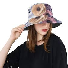 Paper Flower Hats Vivid Paper Flower Illustration New Summer Unisex Cotton