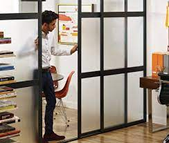 commercial space interior sliding doors