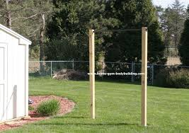 Homemade Outdoor Pullup BarBackyard Pull Up Bar Plans