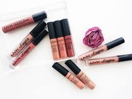 the nyx liquid lipstick round up