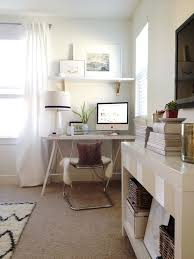 Grey and Scout: Chic office design with white sawhorse desk paired ...