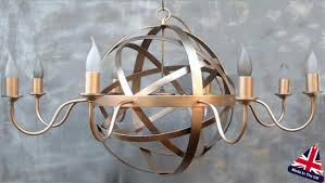 archimedes large 8 light wrought iron orb chandelier