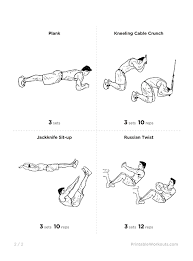 Six Pack Abs Workout Chart Six Pack Abs Exercises Pdf Exflipatsarans