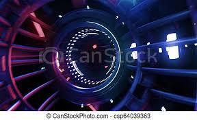 Digital Tunnel 3d Render Vj Neon Digital Tunnel Abstract