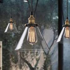 winsoon vintage industrial ceiling lamp clear glass pendant for kitchen loft shade fixture all s