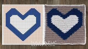 How To Crochet Reversible Heart Square Naztazia