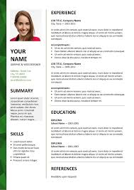 Dalston Resume Green Picture Gallery Website 2007 Word Resume