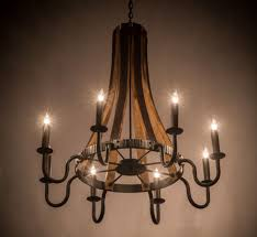 barrel steve madera 8 lt extra large wood and iron chandelier