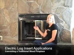 installing electric logs in an existing fireplace opening