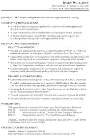 Example Of Functional Resumes Sample Functional Resume Project Manager In Organization
