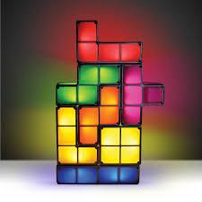 100 original tetris stackable led desk lamp novelty tetris light retro game tower block