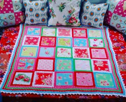 Fabric Crochet Quilt Is The Project You've Been Looking For & Crochet Fabric Quilt Adamdwight.com