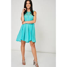 Mint Green Dress With Crochet Detail Ex Branded Look Love Lust