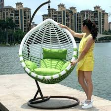 hanging egg chair outdoor rattan wicker black cover bunnings hanging egg chair