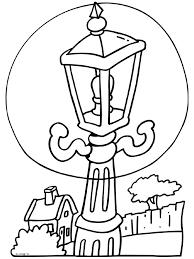 Lantaarnpaal Kleurplaat