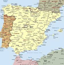 Mappa Spagna - Cartina della Spagna | Spain and portugal, Map of spain,  Portugal map