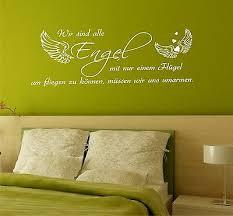 Wandtattoo Sprüche Wir Sind Alle Engel 135cm Schlafzimmer Zitate