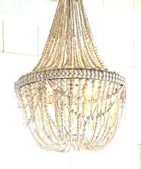 wooden beaded chandelier black
