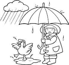 Small Picture rain printable girl and a duck coloring pages print outs