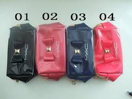 mac pink cosmetics bag