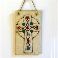celtic cross wall hanging ceramic irish gifts made in ireland