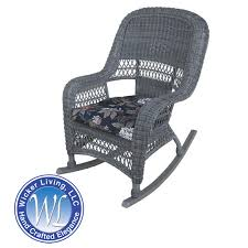 wicker rocking chair. Sanibel Cobblestone Finish Outdoor Wicker Rocking Chair R