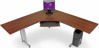 l shaped corner desk. OFM Rize L-Shaped Corner Desk 55177 -Cherry L Shaped M