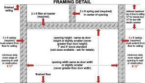 best how to frame a garage door rough opening f20 about remodel perfect small home remodel