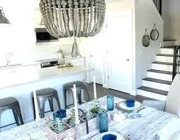 wood beaded chandelier modern farmhouse style kitchen and dining satori design for living foyer lighting